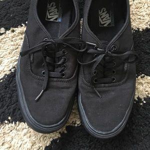 Vans's men black size 10